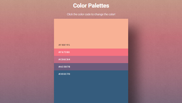 Image Result For Gradient Color Codes