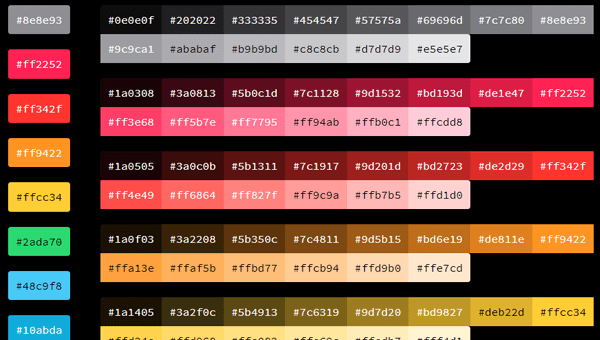 Demo Image: Color Palettes With Shades