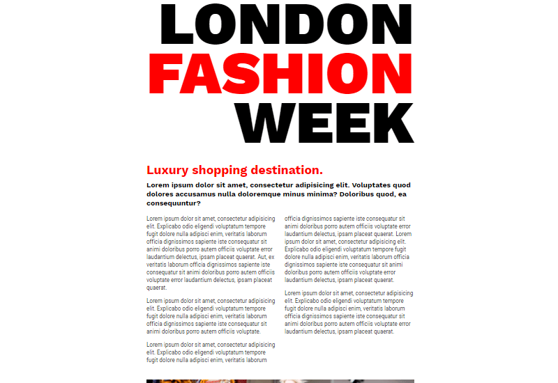 Demo Image: London Fashion Week // CSS Grid