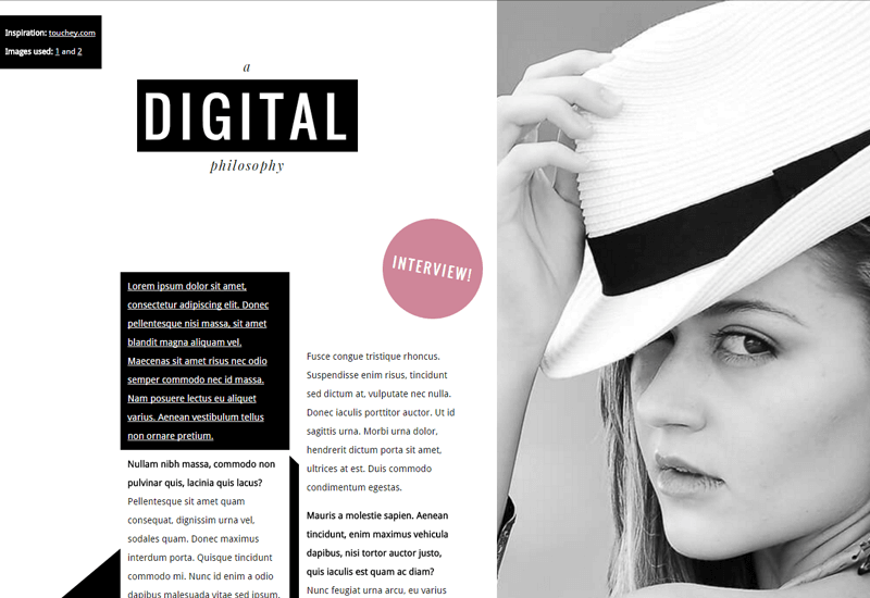 Demo Image: Magazine Layout