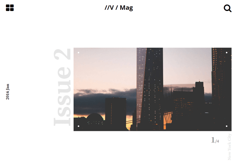 Demo Image: Magazine Template
