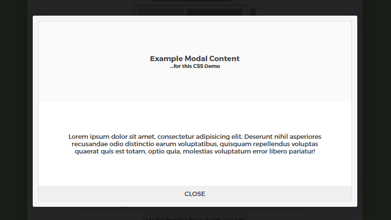 Demo Image: Simple, Flexible And Responsive Flexbox-Based Modal