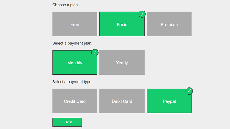Demo Image: Checkout Form