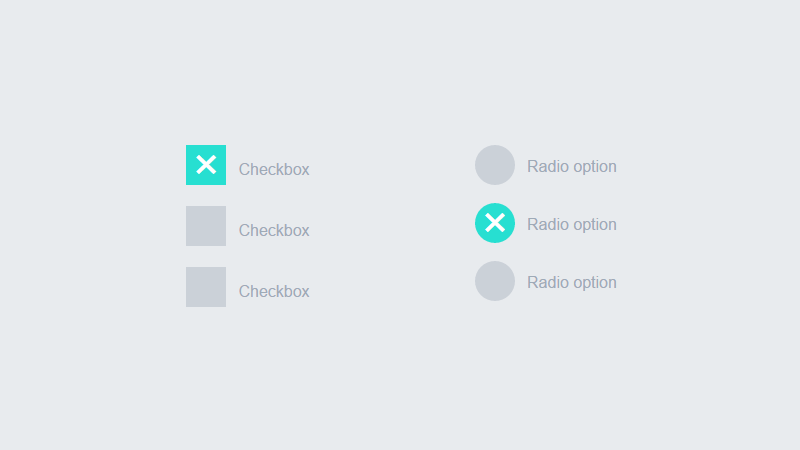 Demo Image: CSS Ripple/Wave Checkbox And Radio Button