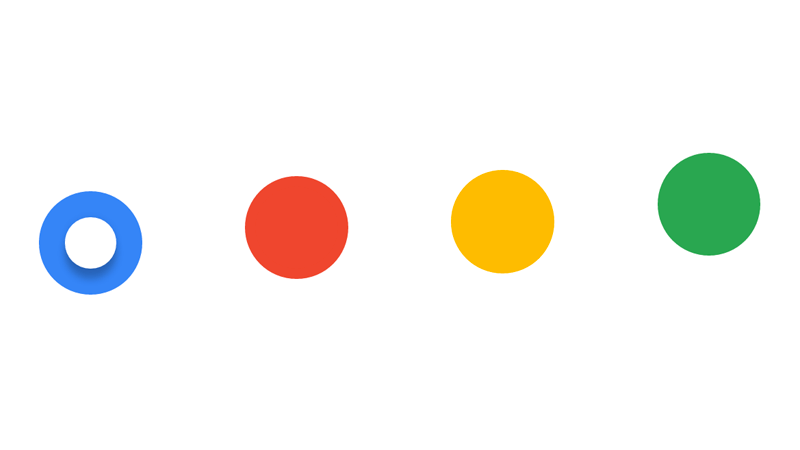 Demo Image: Google Dots Radio Buttons