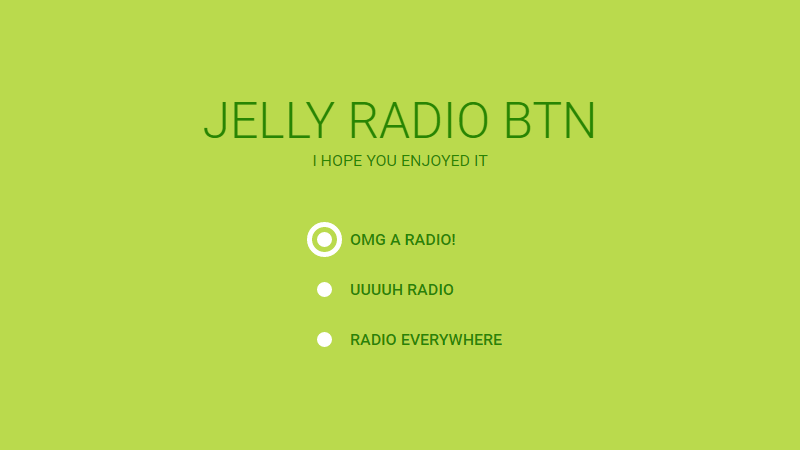 Demo Image: Jelly Radio Button