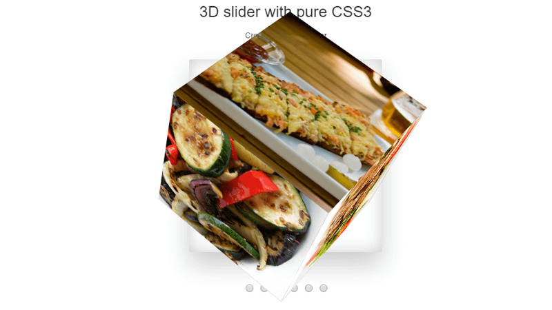Demo Image: 3D Cube Slider. Pure CSS