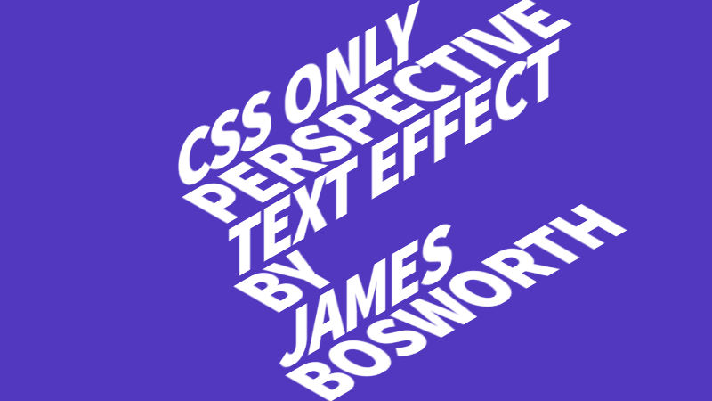 Demo Image: CSS Perspective Text Hover