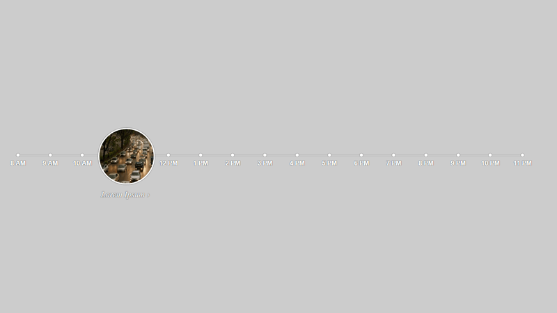 Demo Image: Animated Circle Timeline