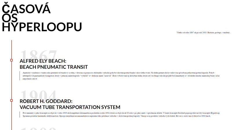 Demo Image: Hyperloop Timeline