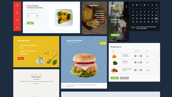 Demo Image: Food And Drink Bootstrap UI Kit