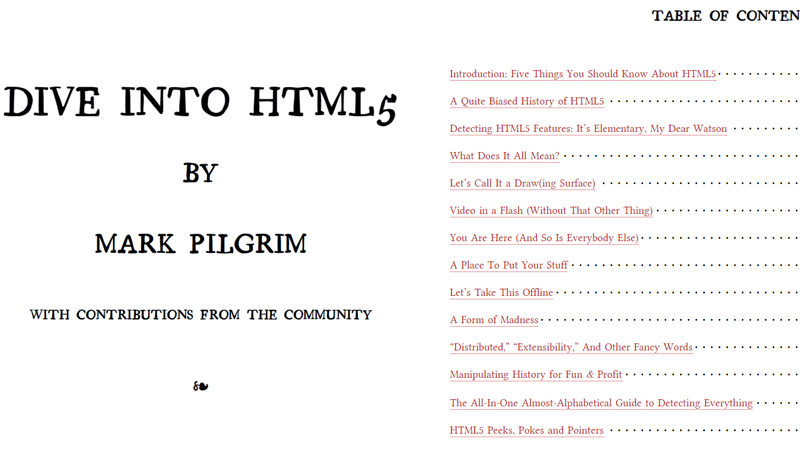 Cover Image: Dive Into HTML5