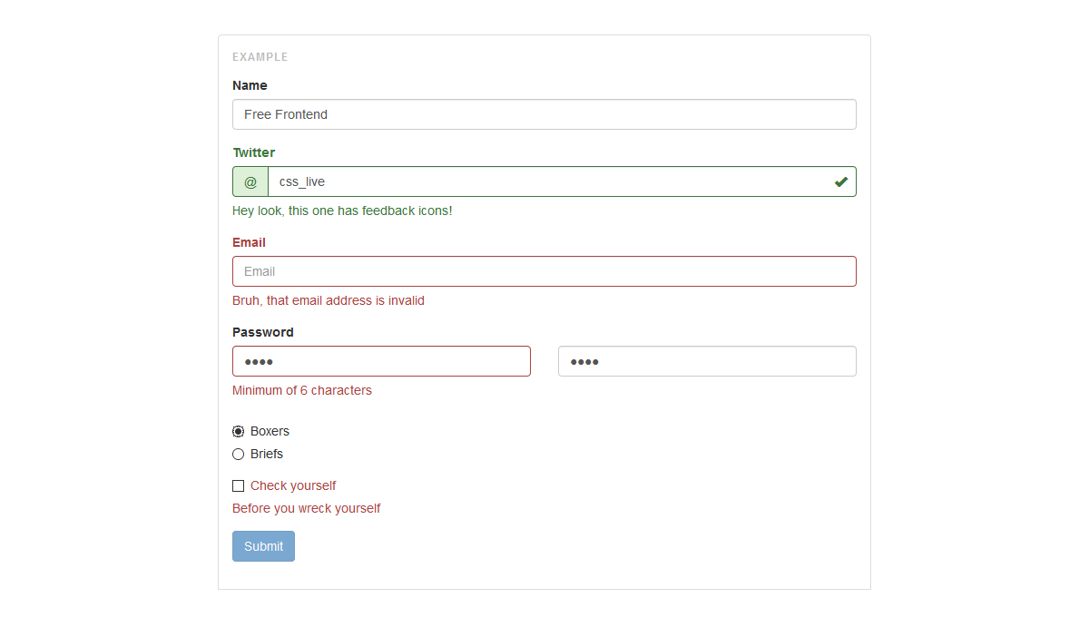 8 jquery form validation plugins validator for bootstrap 3 the validator plugin offers automatic form validation falaconquin