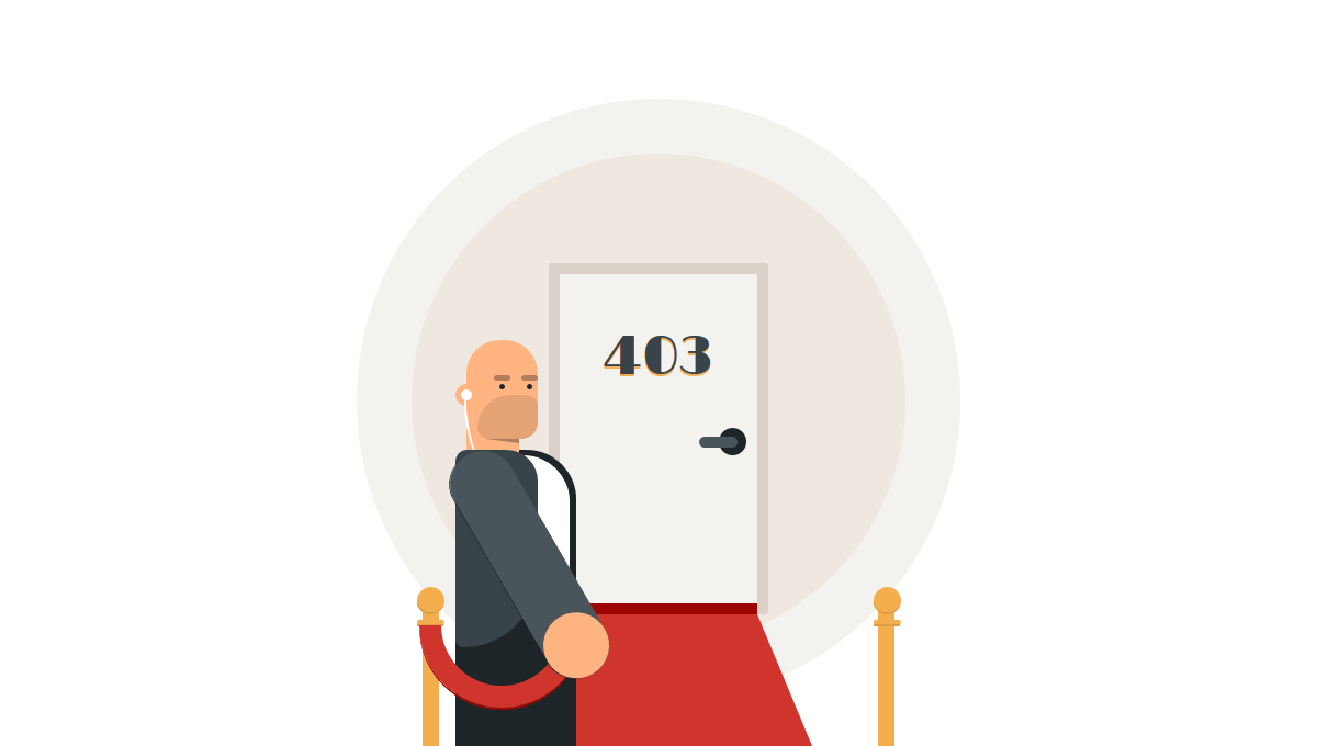 Demo image: The Bouncer at 403 Error Page
