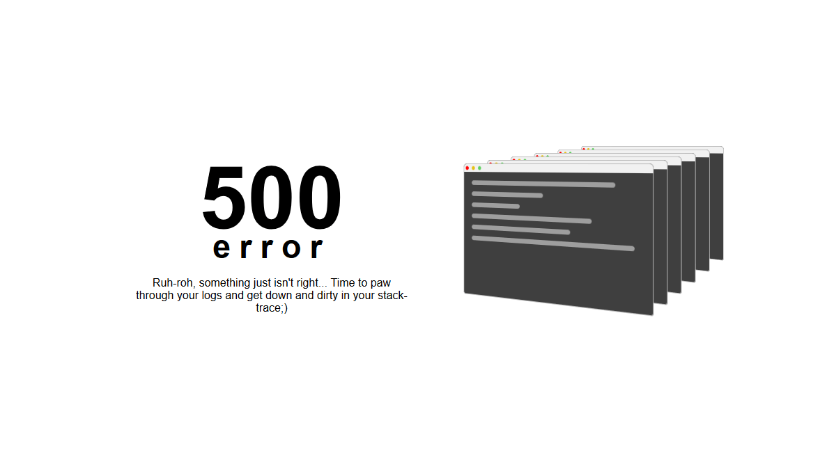 Post thumbnail: 500 Error Page HTML Templates