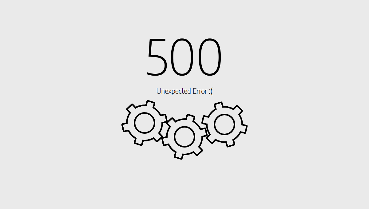 500 Error Page HTML Templates