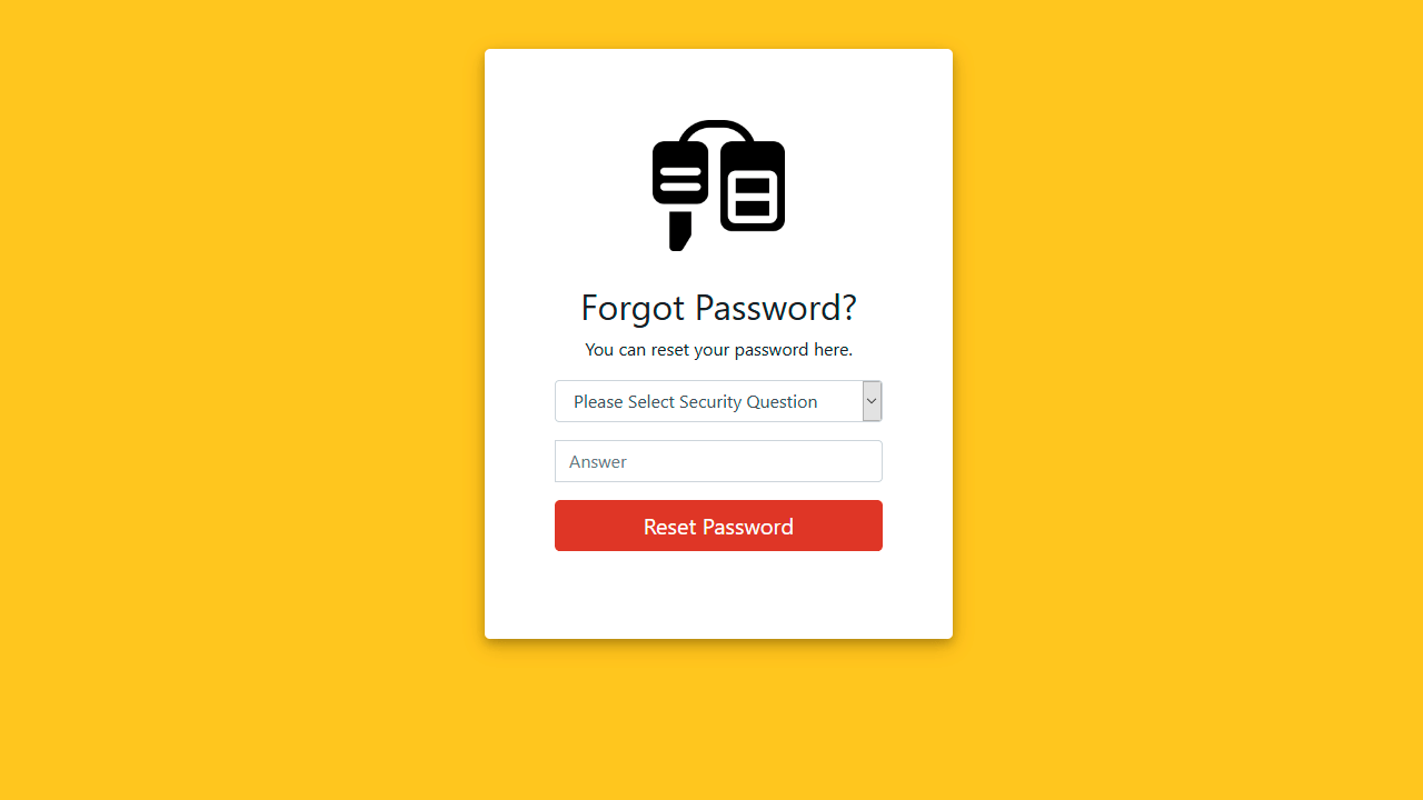 Demo image: Bootstrap Forget Password Form