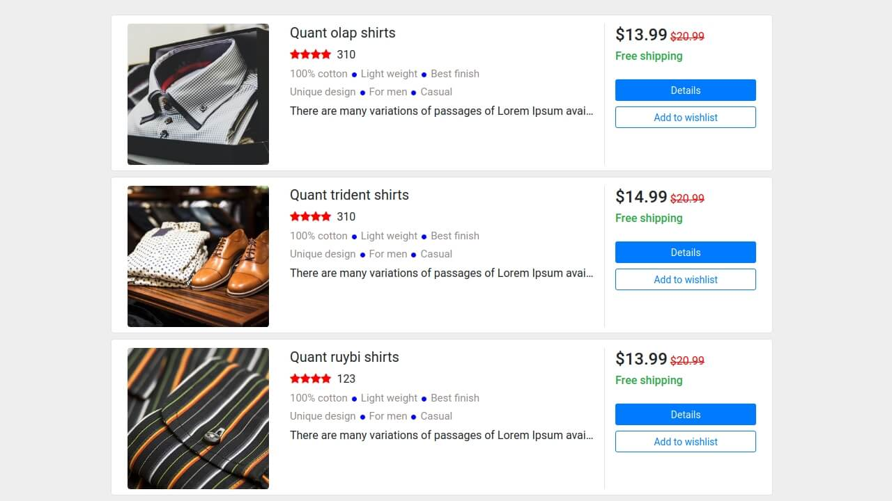 29 bootstrap product cards