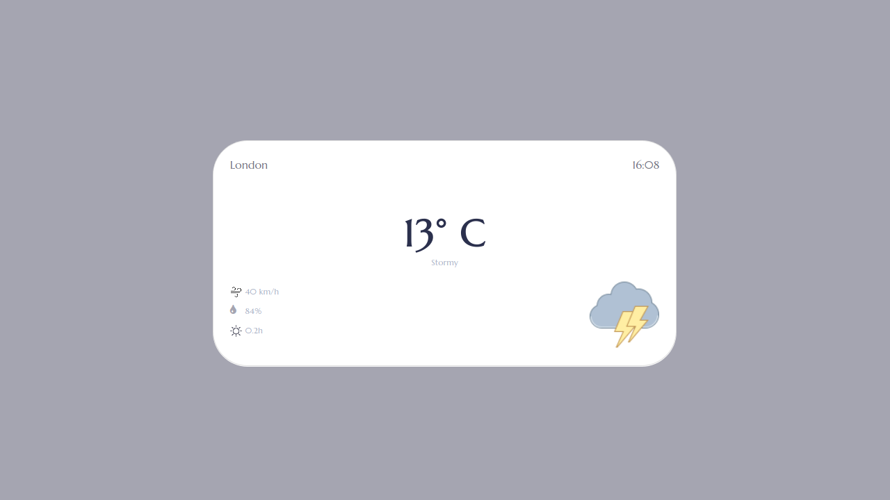 Demo image: Bootstrap 4 Weather Info
