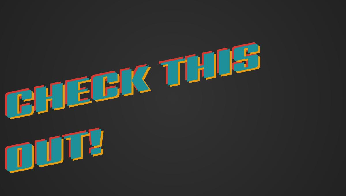 12 CSS 3D Text Effects