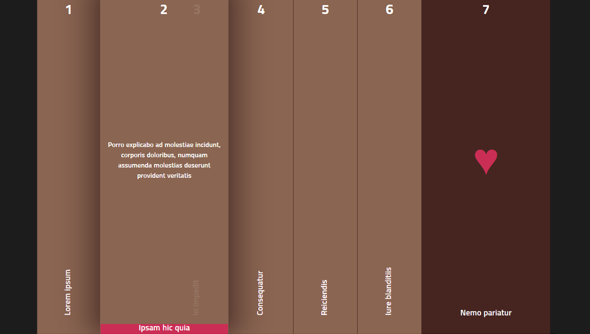 Demo image: Pure CSS Accordion