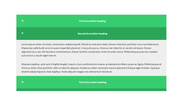 Demo Image: CSS Responsive Animated Accordion