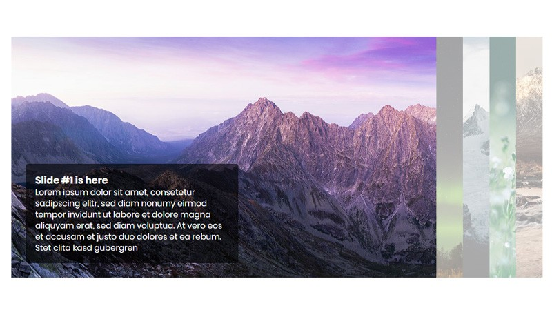 Demo image: CSS3 accordion slider with Transitions and Flexbox