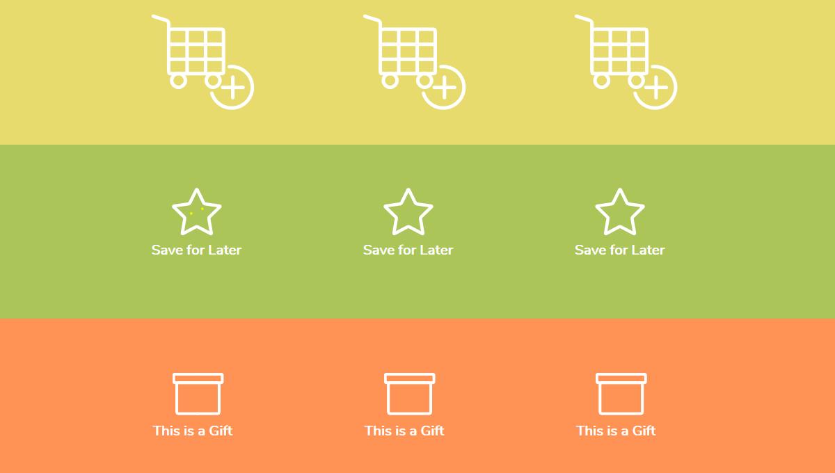Efectos CSS3 avanzadas: iconos animados del carrito de compras