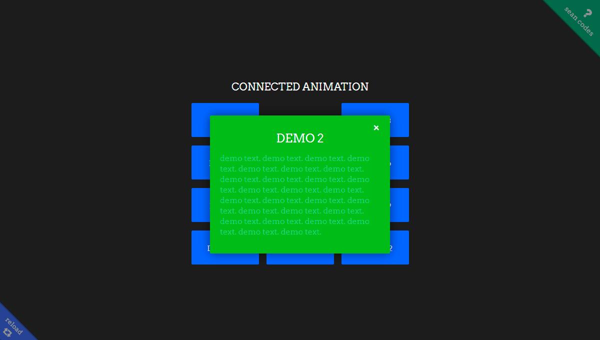 Imagen de demostración: animación conectada
