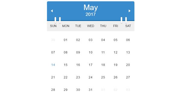 Calendar Design Css : Css calendars