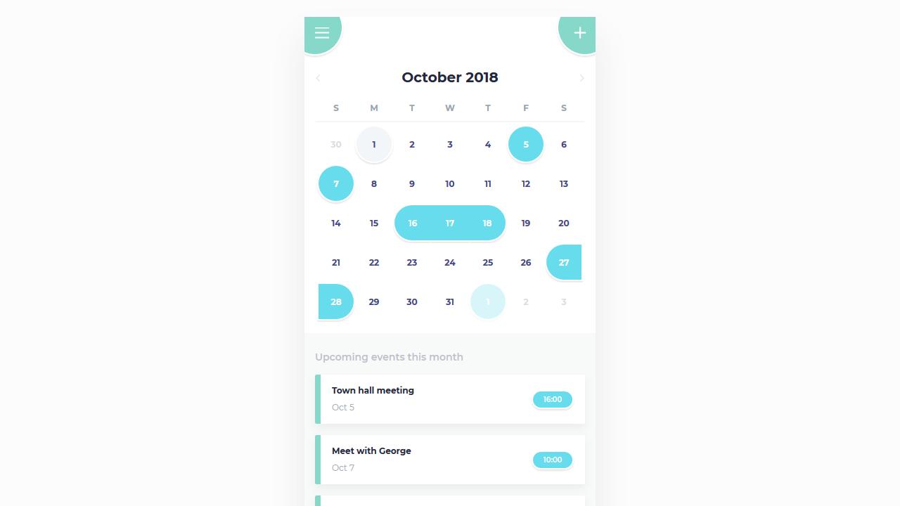 39 CSS Calendars