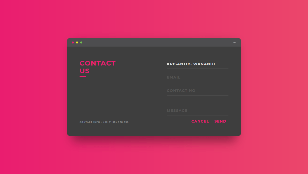 Demo image: Contact Us Form