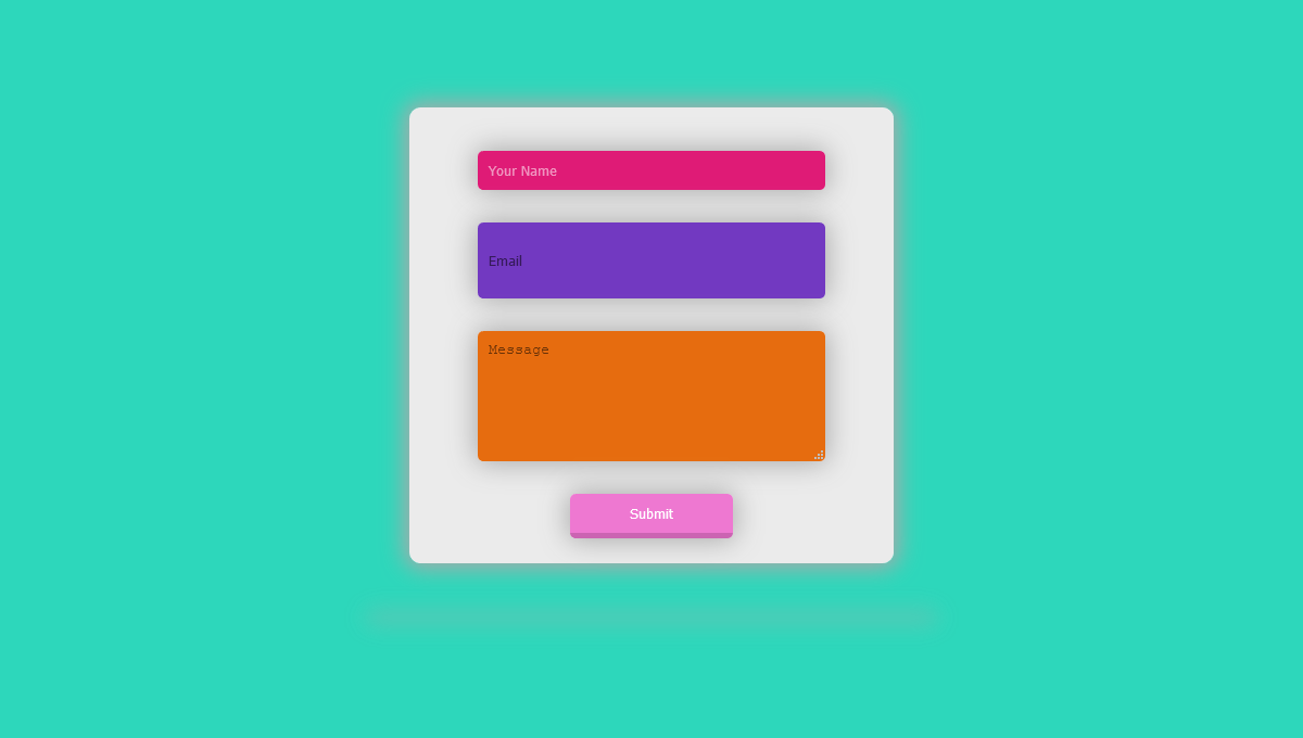 Demo image: Floating Contact Form CSS