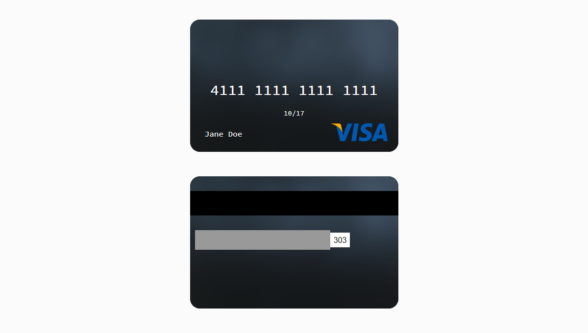 Demo image: Credit Card Template