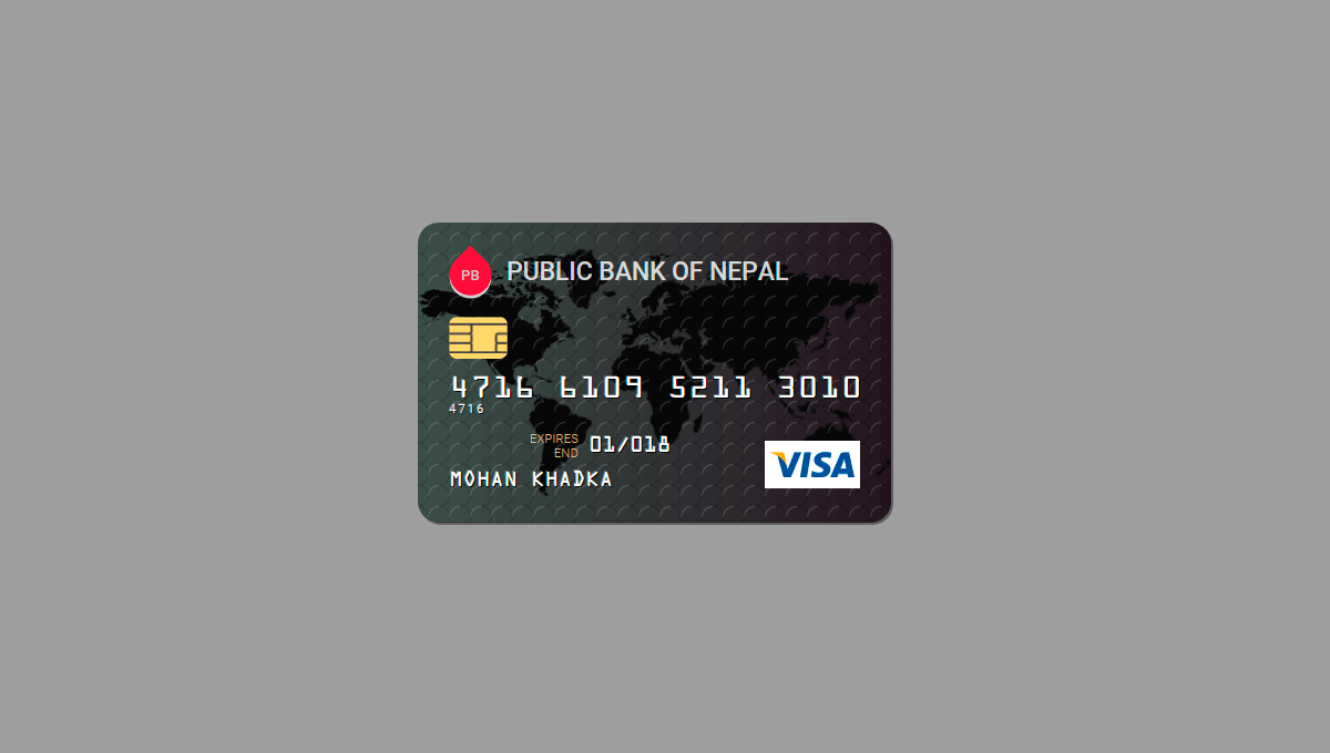 Demo image: Credit Card (CSS+SVG)