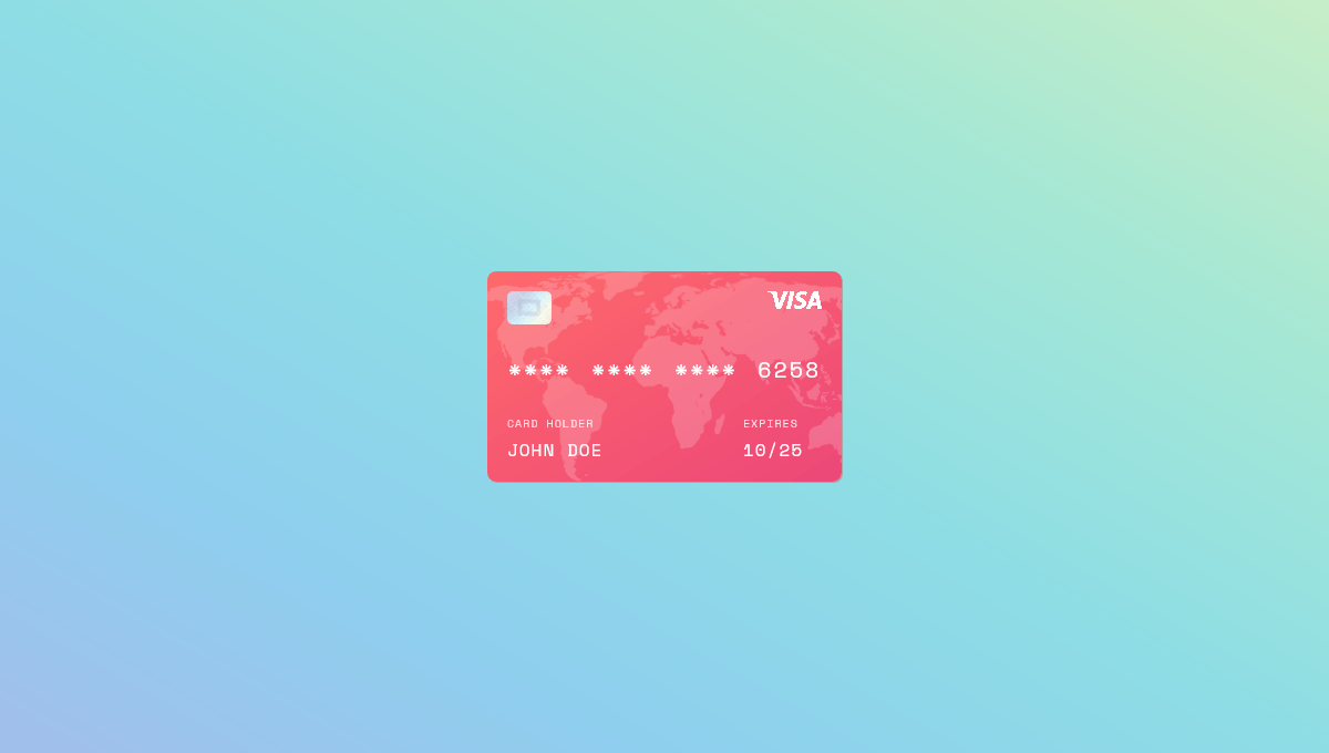 Demo image: Flipping Credit Card