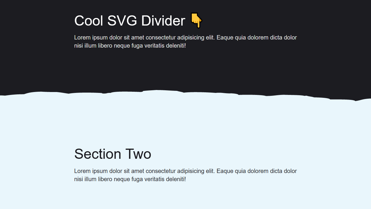 Demo image: SVG Section Divider