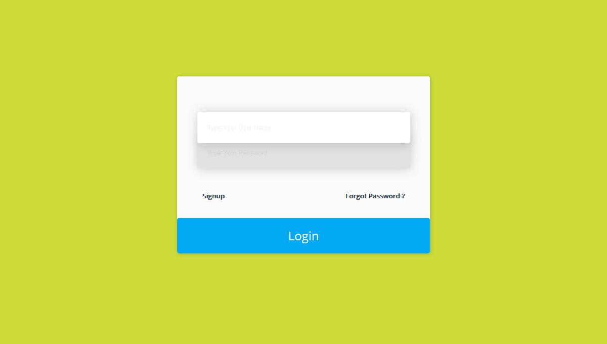 Demo image: Trendy Login screen User Interface