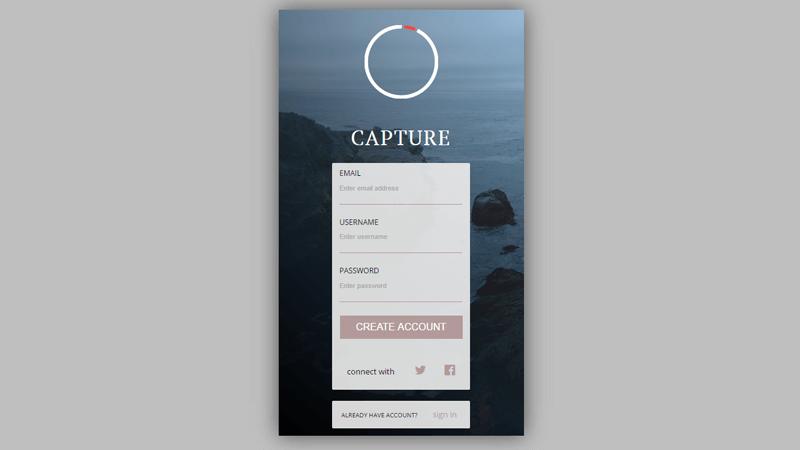 Demo Image: Form Sign Up UI