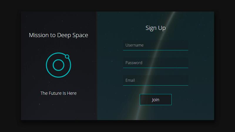 Demo Image: Sign Up Form