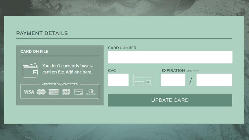 Demo Image: Credit Card UI