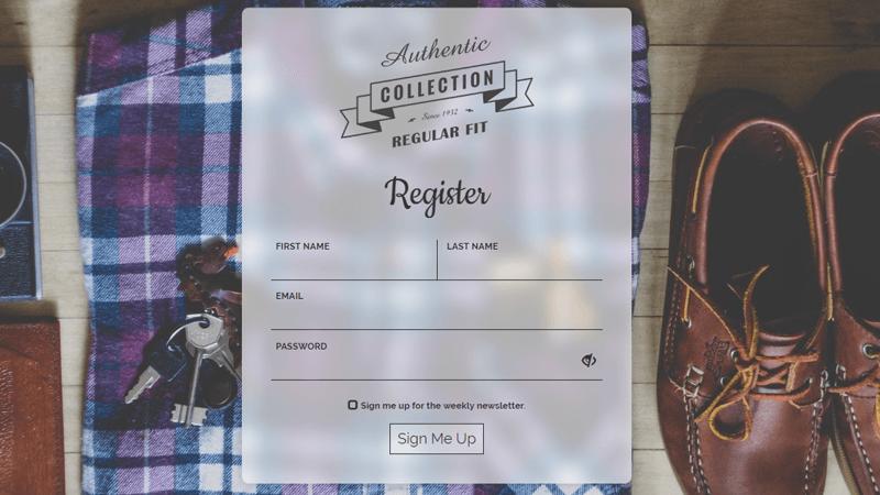 Demo Image: Sign Up Form UI