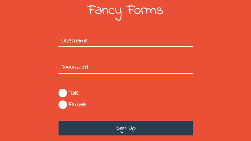 Demo Image: Fancy Forms