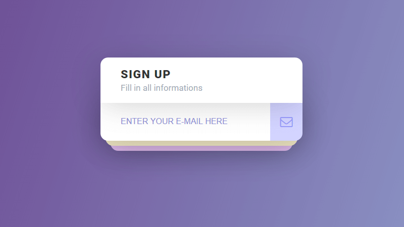 Demo Image: Interactive Sign Up Form