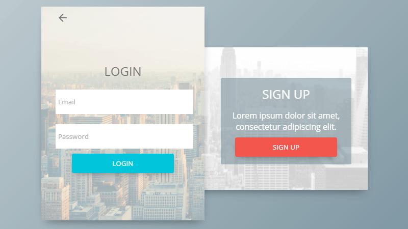 Demo Image: Login & Sign Up Form Concept