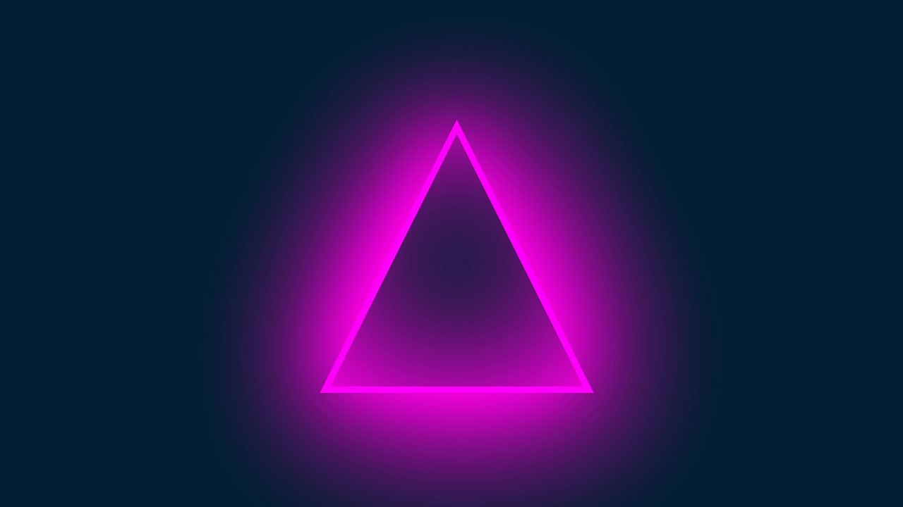 Demo image: Triangle With Neon Glow Effect