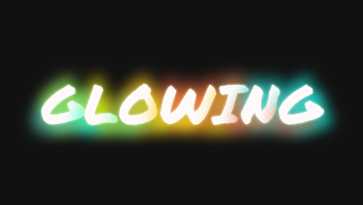 Demo image: Glowing Text