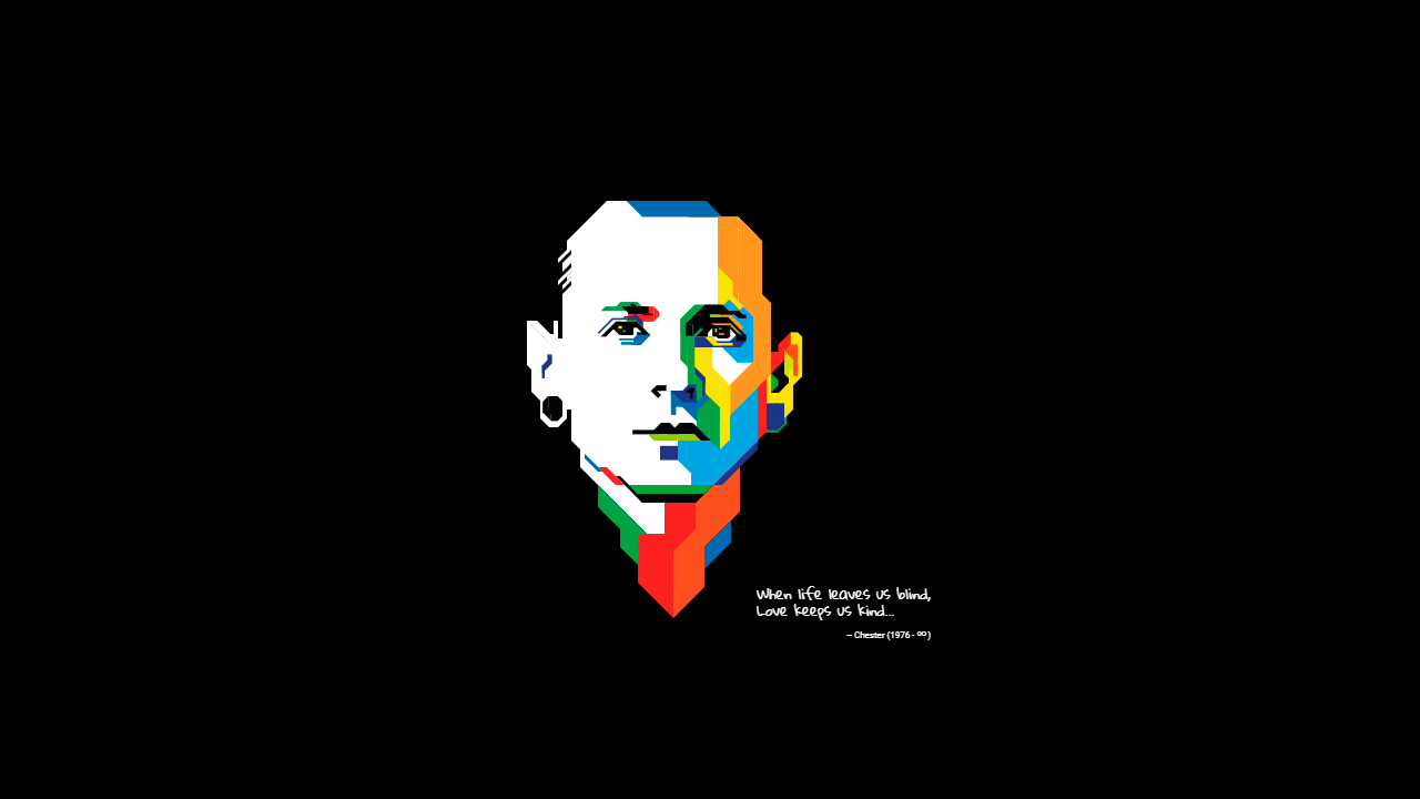 Demo image: Chester Bennington Tribute Pure CSS Illustration