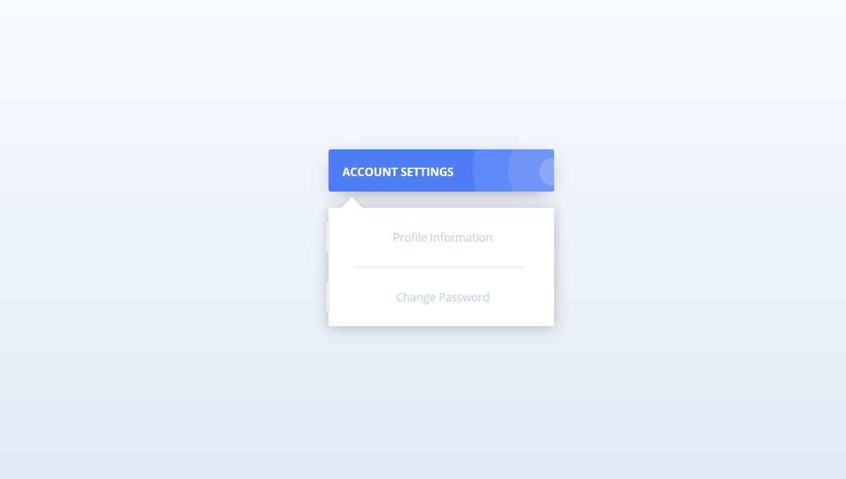 Demo image: Dropdown Menu Animation