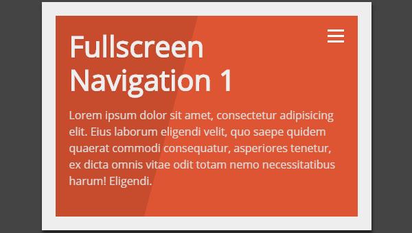 Demo Image: Fullscreen Navigation